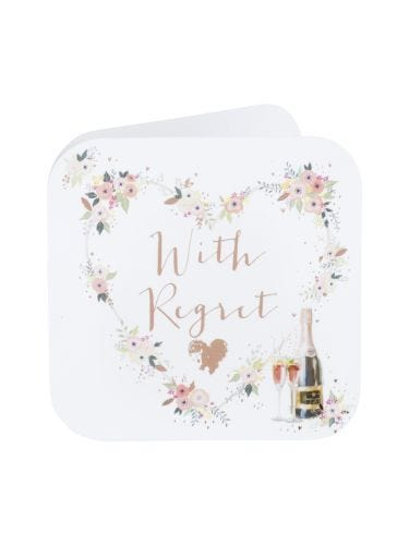 With Regret Invite Sentiment Card