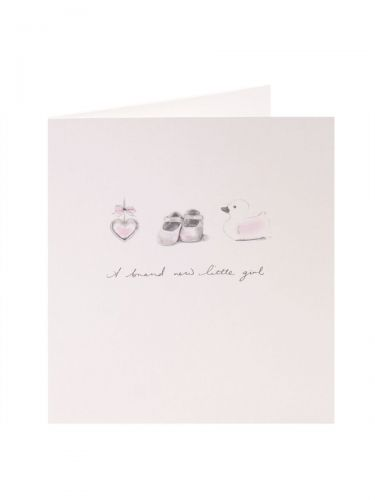 Baby Girl Card Star Shoes Duck