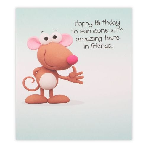 Funny Mouse General Birthday Card