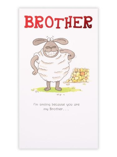 Smiling Brother Birthday Card