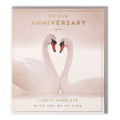 Swans On Our Anniversary Card