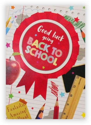 good luck going back to school card