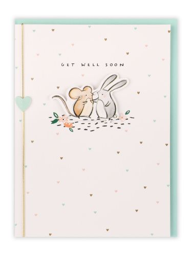 Get Well Soon Mouse And Rabbit Card