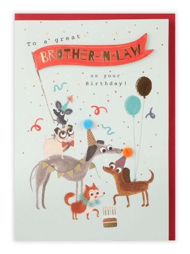 Dogs Card Brother In Law Birthday Card