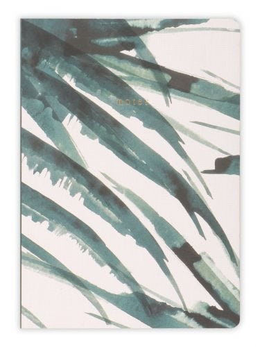 Tropical Leaves A5 Notebook