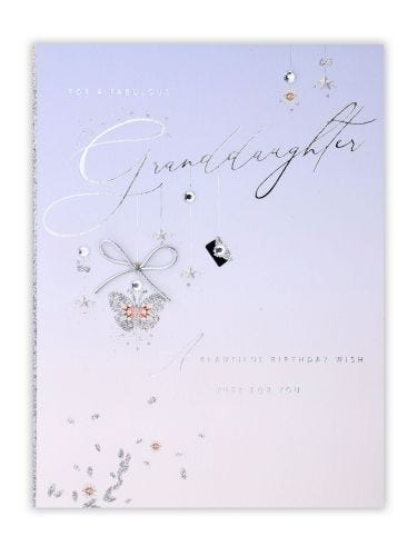 Hanging Icons Granddaughter Birthday Card