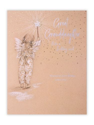 Girl With Fairy Wand Great Granddaughter Birthday Card