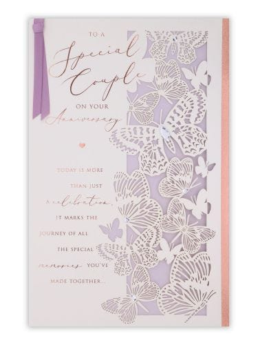 Butterflies Special Couple Anniversary Card