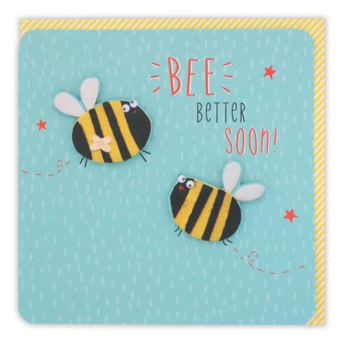 Bee Better Soon On Teal