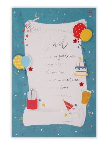 Dad Recipe For The Perfect Dad Birthday Card