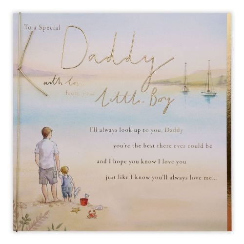 Daddy From Son Beach Father And Son Birthday Card