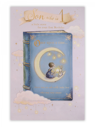 Son 1st Birthday Once Upon A Time Blue Book