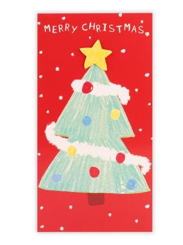 Merry Christmas Tree Money Wallet Card