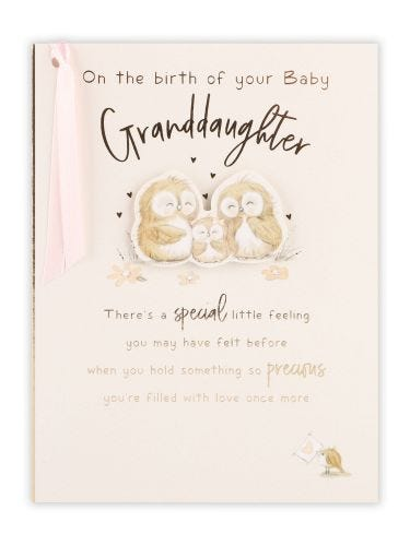Owl Family Birth Of Granddaughter Card