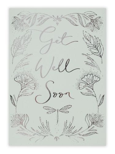 Dragonfly Get Well Soon Card
