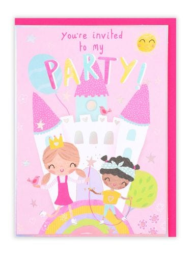 Castle Party Invite, Pack of 10