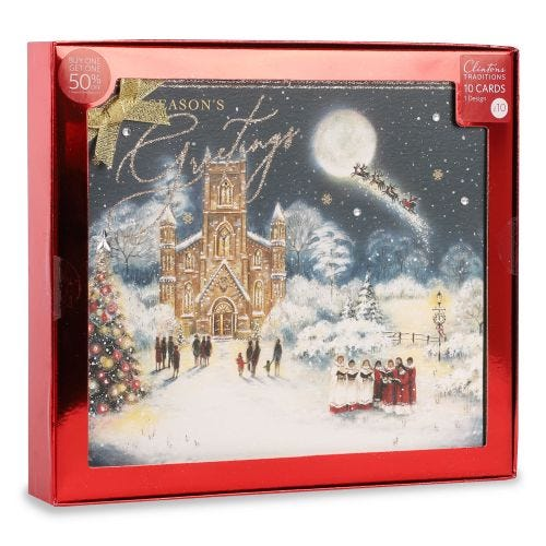 Christmas Traditional Carol Singers , Pack of 10, 1 Design
