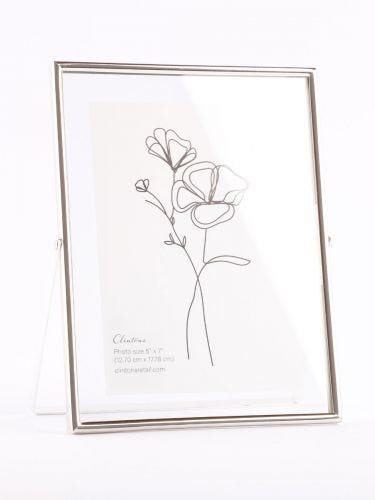 """Silver Floating 5x7"""" Frame"""