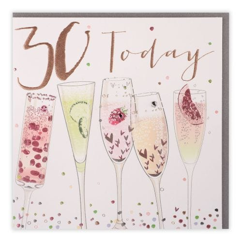 30 Today glasses Card
