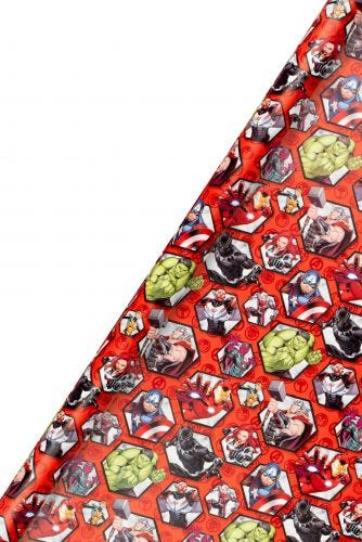 2m x 70cm Marvel Avengers Wrapping Paper Roll