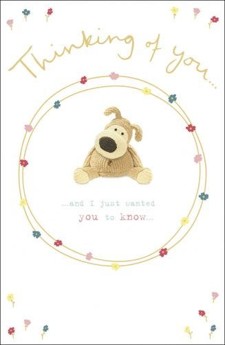 Thinking Of You Boofle Circle With Flowers Card