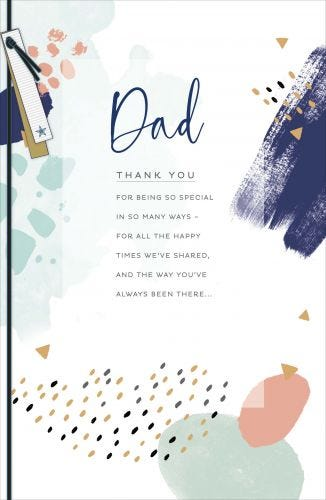 Dad Birthday Thank You For Being So Special Card