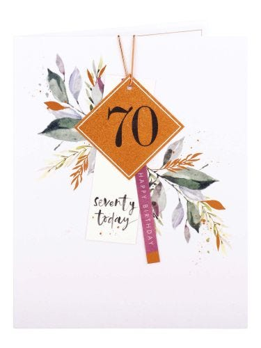 Gift Tags 70th Birthday Card