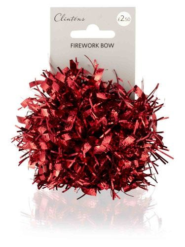 Red Firework Bow