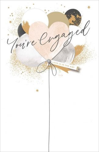 Engagement Love Is In The Air Balloons Card