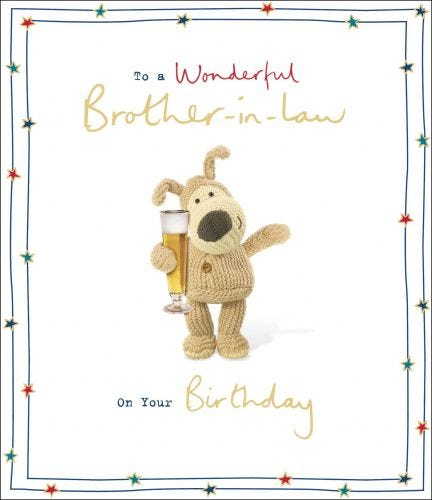Brother In Law Birthday Boofle Glass Of Beer Card
