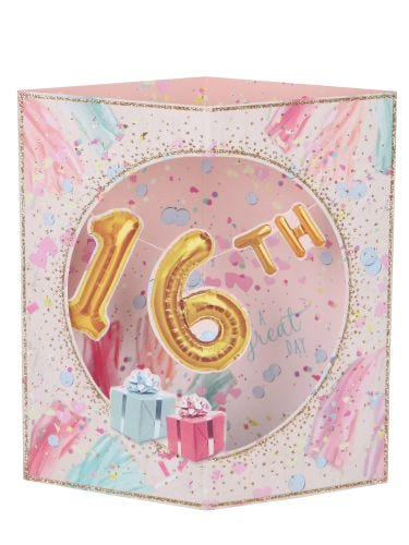 Party With Gifts 16Th Birthday Card