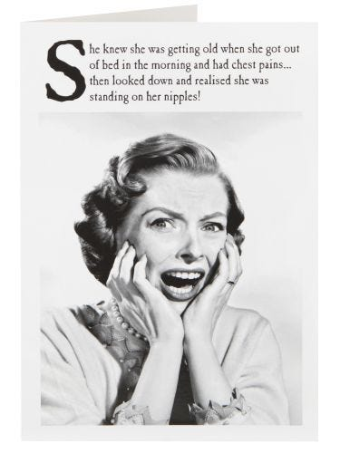 Lady In Shock Humour Birthday Card