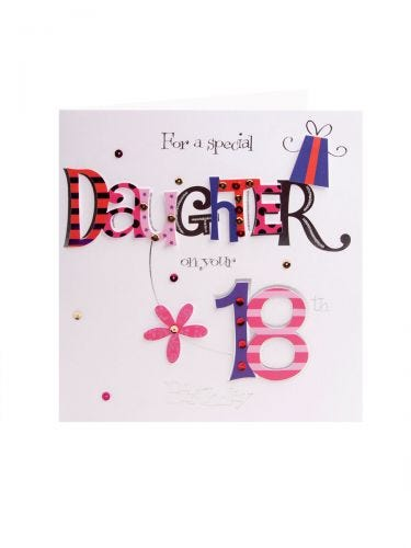 Patterned Letters Special Daughter 18th Birthday Card