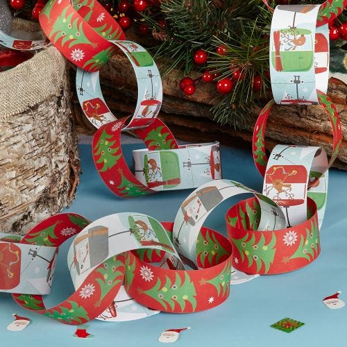 Christmas Fun Paper Chains 50 Pack