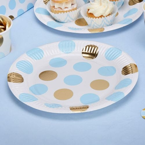 Pattern Works - Plate Blue Dots - 8 pack