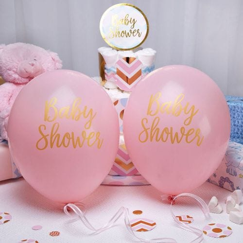 Pattern Works - Balloons - Baby Shower Pink - 8 pack