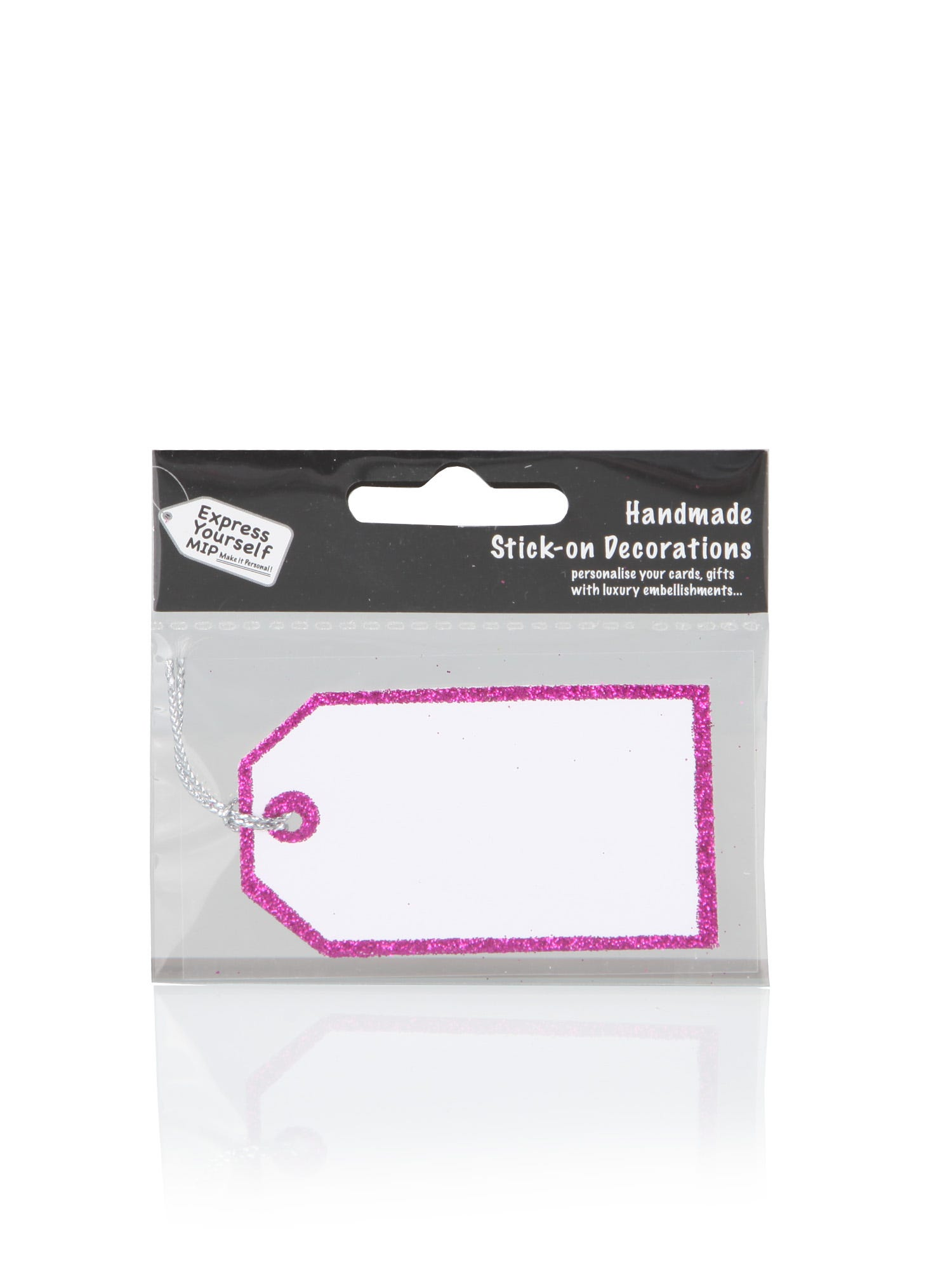 Pink Glitter Tag <p>Ideal as an add-on to any handmade or craft project. Perfect on greeting cards, scrapbook headings, gift tags, invitations and personalised gifts. </p> <p> Not suitable for children under 5 years of age. </p>