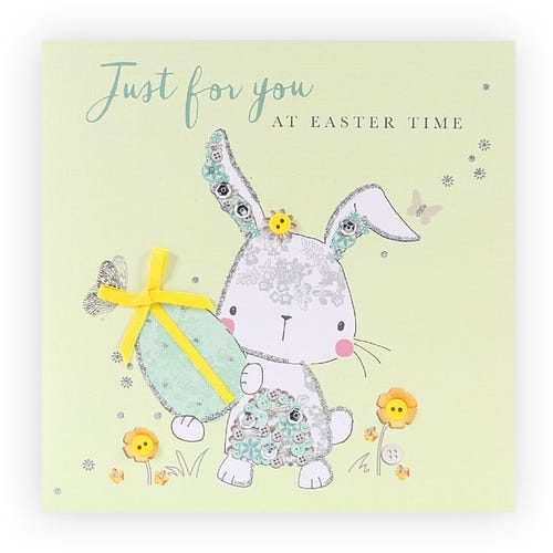 Bunny with Egg Easter Card