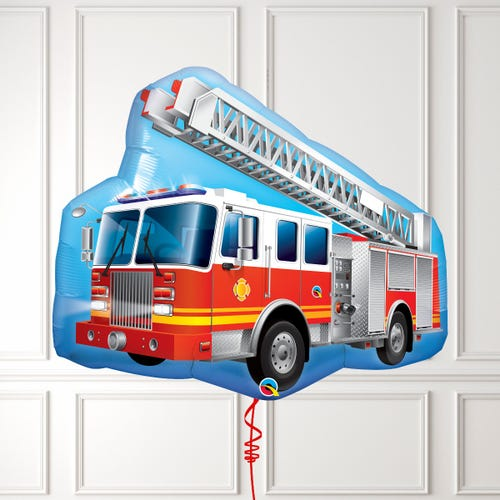 Red Fire Engine Shape Balloon