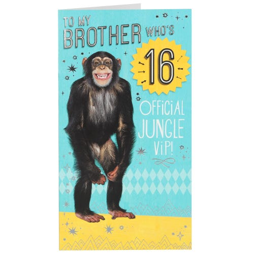 Official Jungle V.I.P 16th Birthday Card