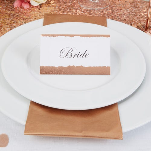 Dipped in  Rose Gold Place Cards - 25