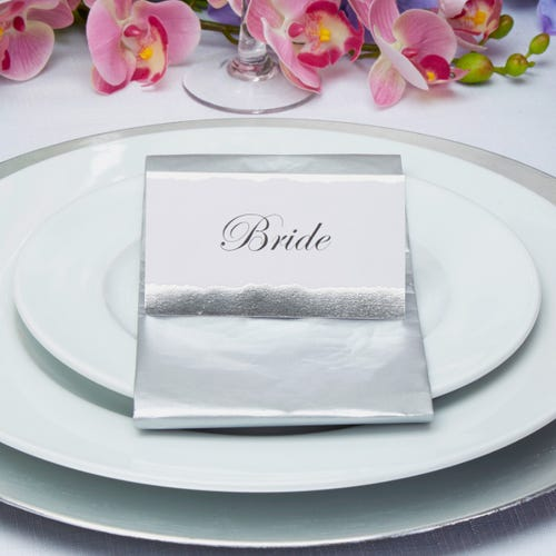 Dipped in  Silver Place Cards - 25