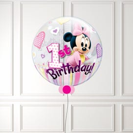 Minnie Mouse 1st Birthday Bubble Balloon