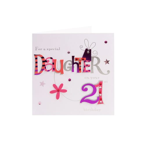 Patterned Letters Special Daughter 21st Birthday Card