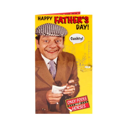 Only Fools And Horses Cushty Del Boy Father's Day Card