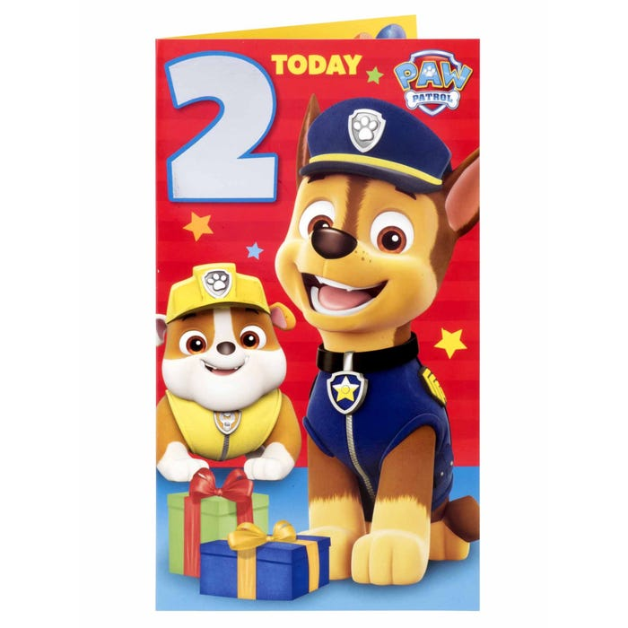 Paw Patrol 2nd Birthday Boy 3 Products Clipart And 2 Thank Etsy