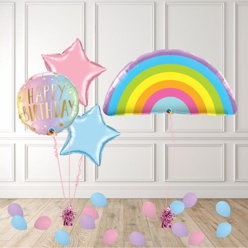 Pastel Rainbow Balloon Package