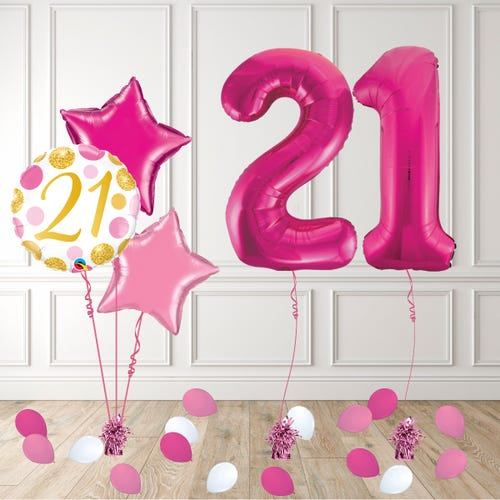 Pink Age 21 Birthday Package