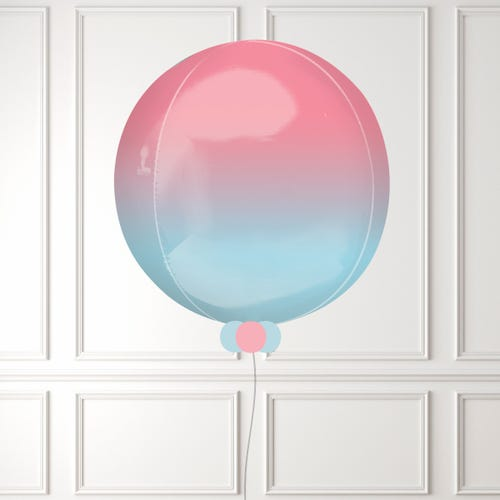 Pink & Blue Pastel Ombre Orbz Balloon