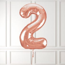 Rose Gold Number 2 Foil Balloon